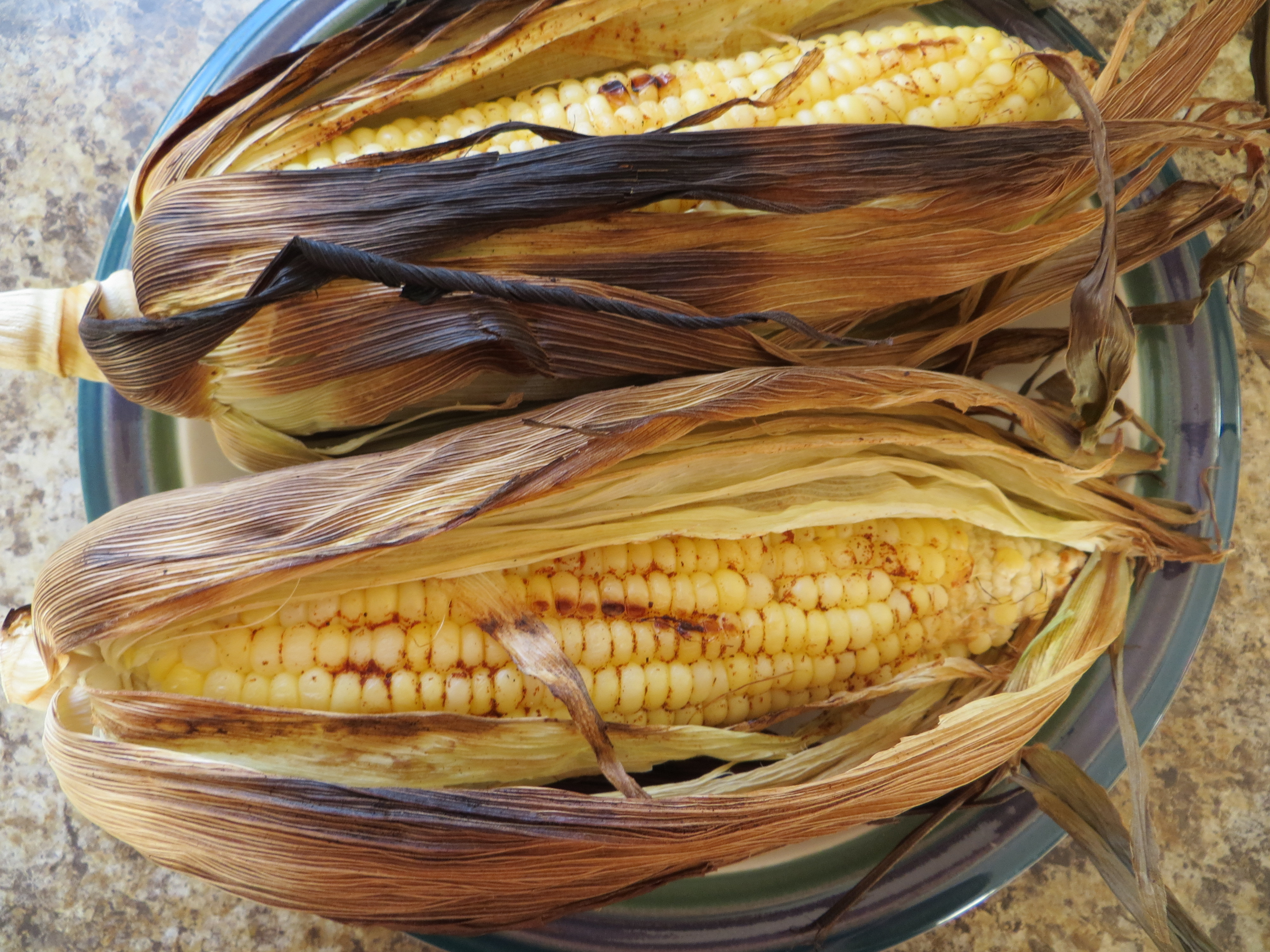 Grilling Corn In The Husk  grilled corn