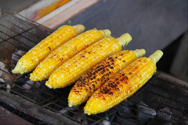 Grilling Corn In The Husk  Grilled No Husk Corn on the Cob