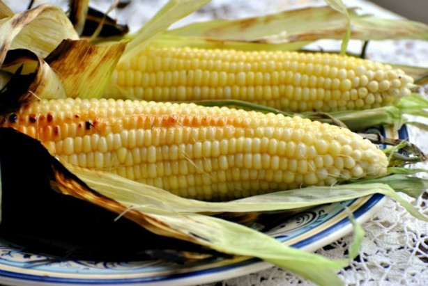 Grilling Corn In The Husk  Grilled Fresh Sweet Corn The Cob In Husks Recipe Food