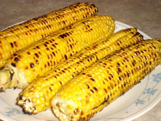 Grilling Corn In The Husk  Simple Grilled Corn The Cob Recipe Food