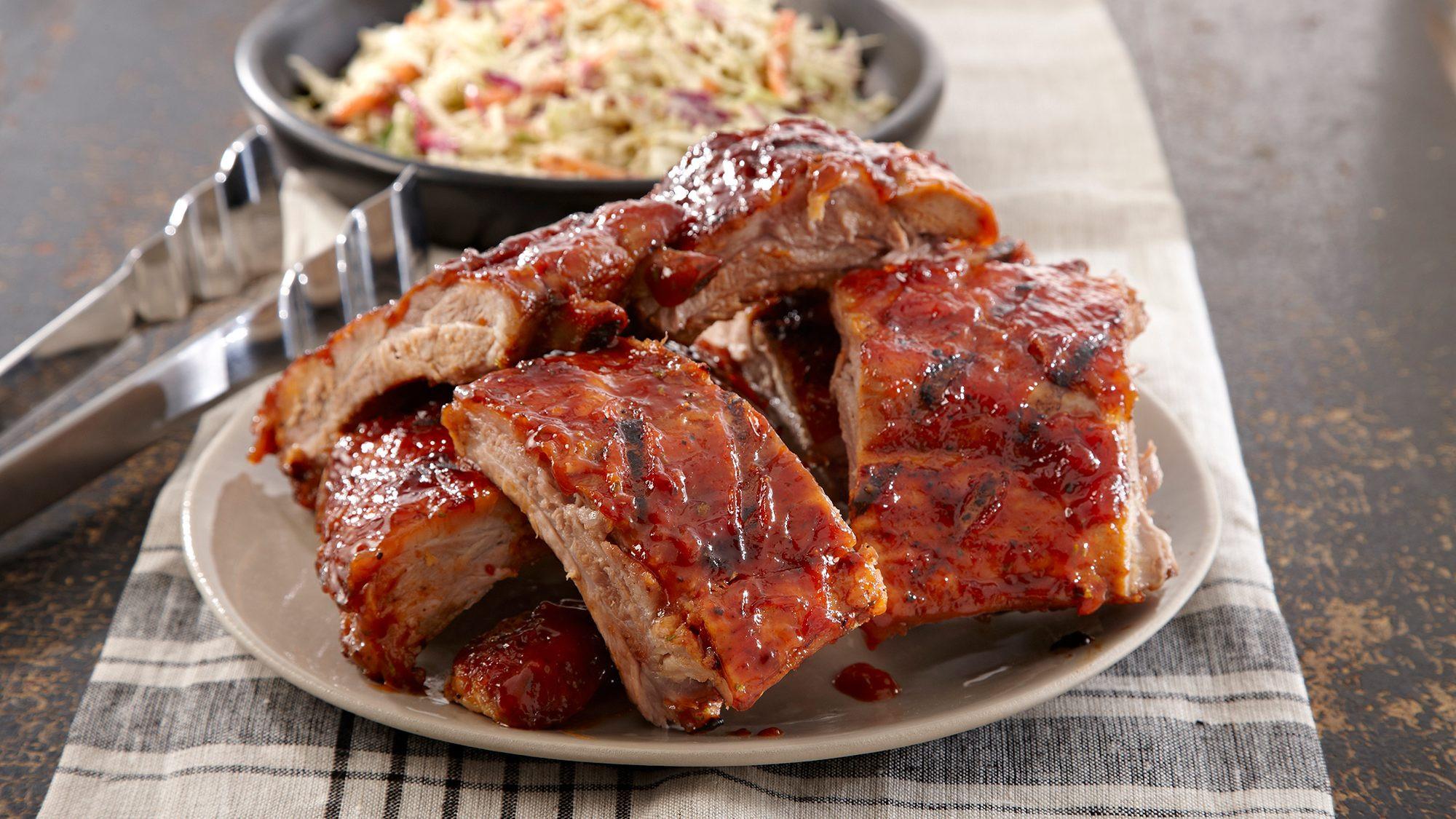 Grilling Pork Ribs  Mesquite BBQ Pork Ribs