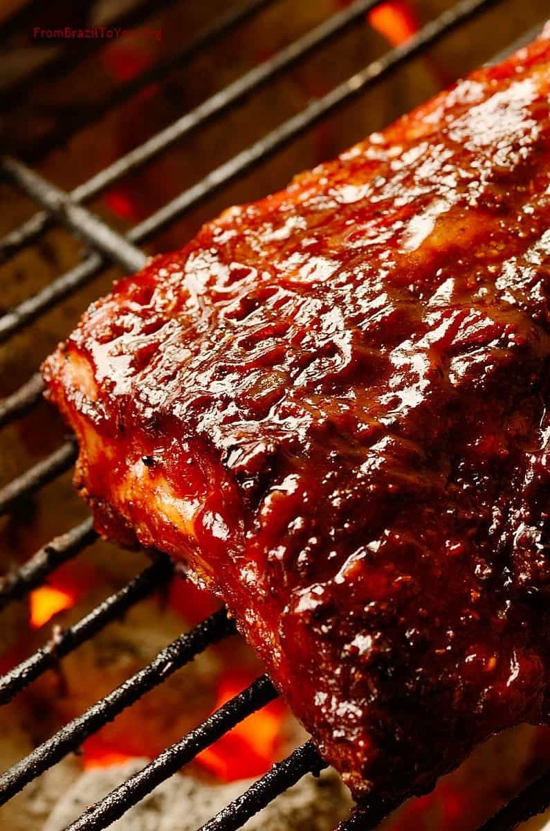 Grilling Pork Ribs  Red Wine Barbecue Pork Ribs Easy and Delish