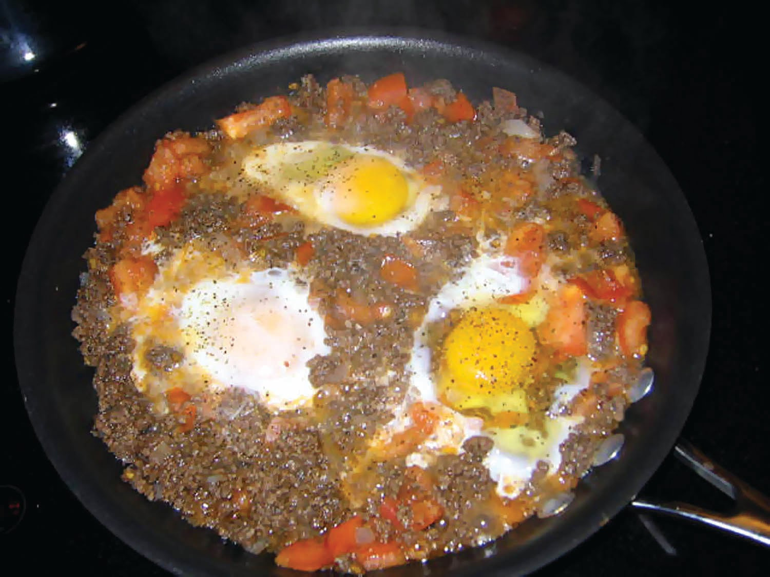 Ground Beef And Eggs  The Iraqi Family Cookbook Ground Beef and Eggs Omelet