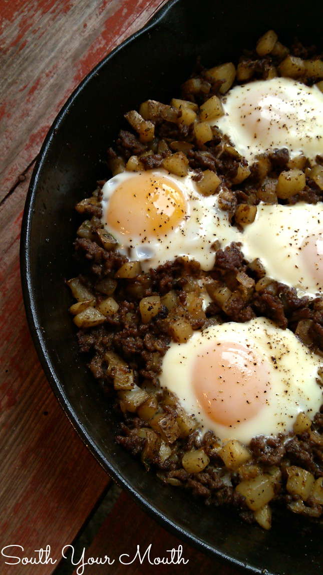 Ground Beef And Eggs  South Your Mouth Hash & Eggs