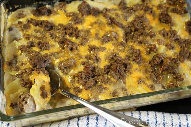 Ground Beef Casserole With Potatoes  Easy Meals For A Family Our Family World