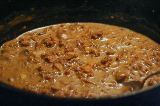 """Ground Beef Cream Of Mushroom  Thankful Expressions """"Cream of Mushroom Soup"""" w Ground Beef"""