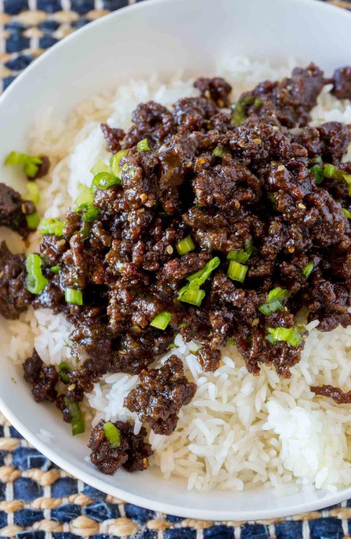 Ground Beef Dinner Recipes  Korean Ground Beef Dinner then Dessert