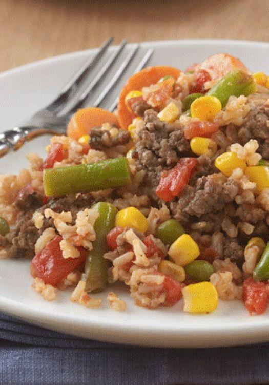 Ground Beef Dinner Recipes  De 25 bedste idéer inden for Ground beef rice på