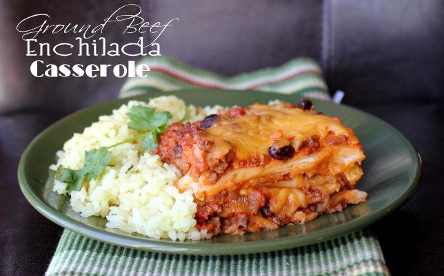 Ground Beef Enchilada Casserole  Ground Beef Enchilada Casserole