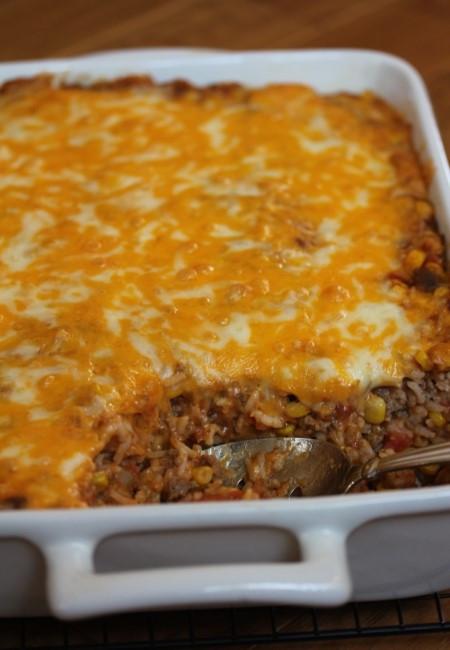 Ground Beef Enchilada Casserole  Beef Enchilada Rice Casserole Lynn s Kitchen Adventures