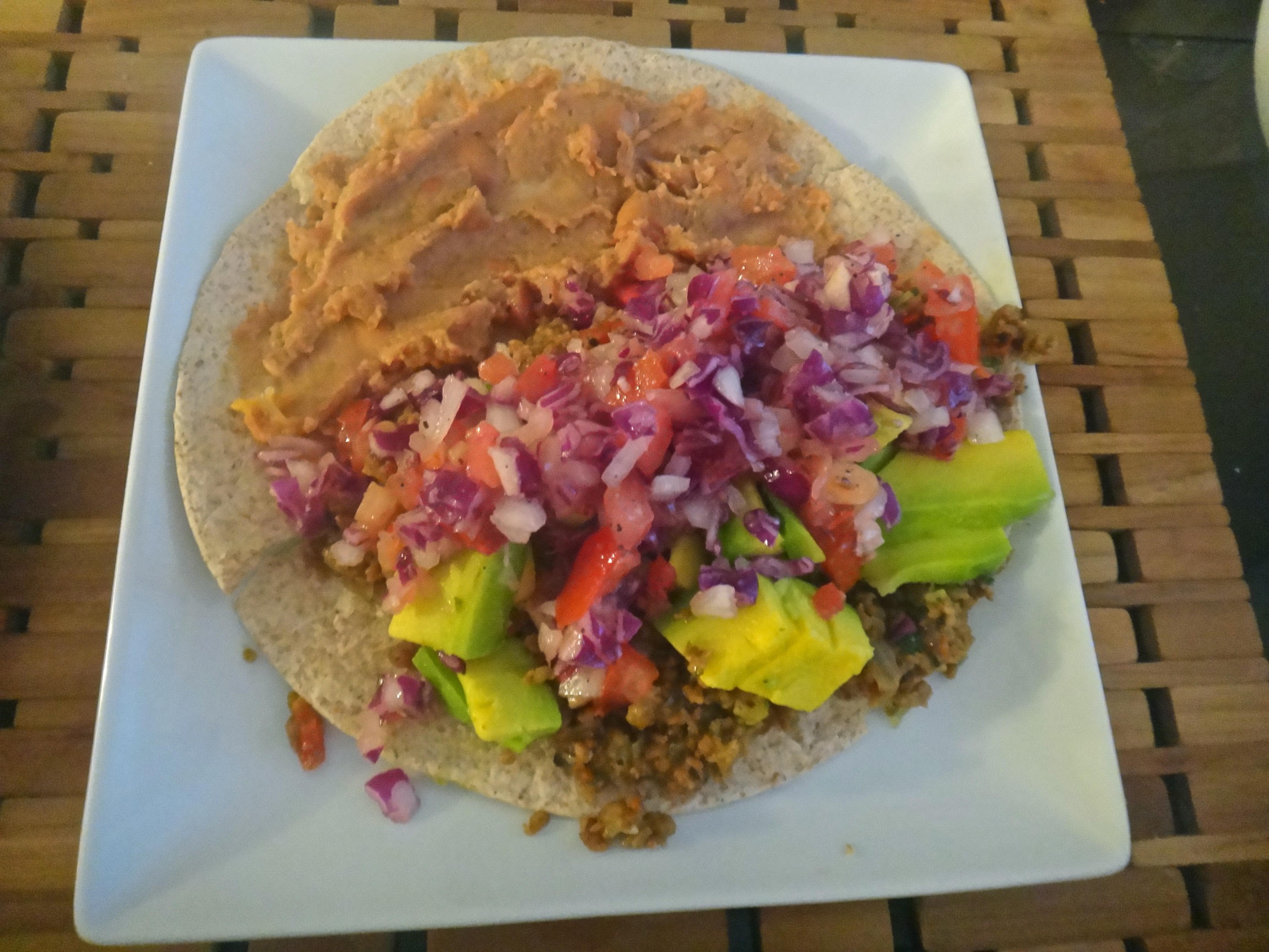 Ground Beef Fajitas  Mid week fort food that's semi homemade Vegan Ground
