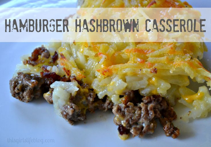 Ground Beef Hash Brown Casserole  106 best Things to try images on Pinterest