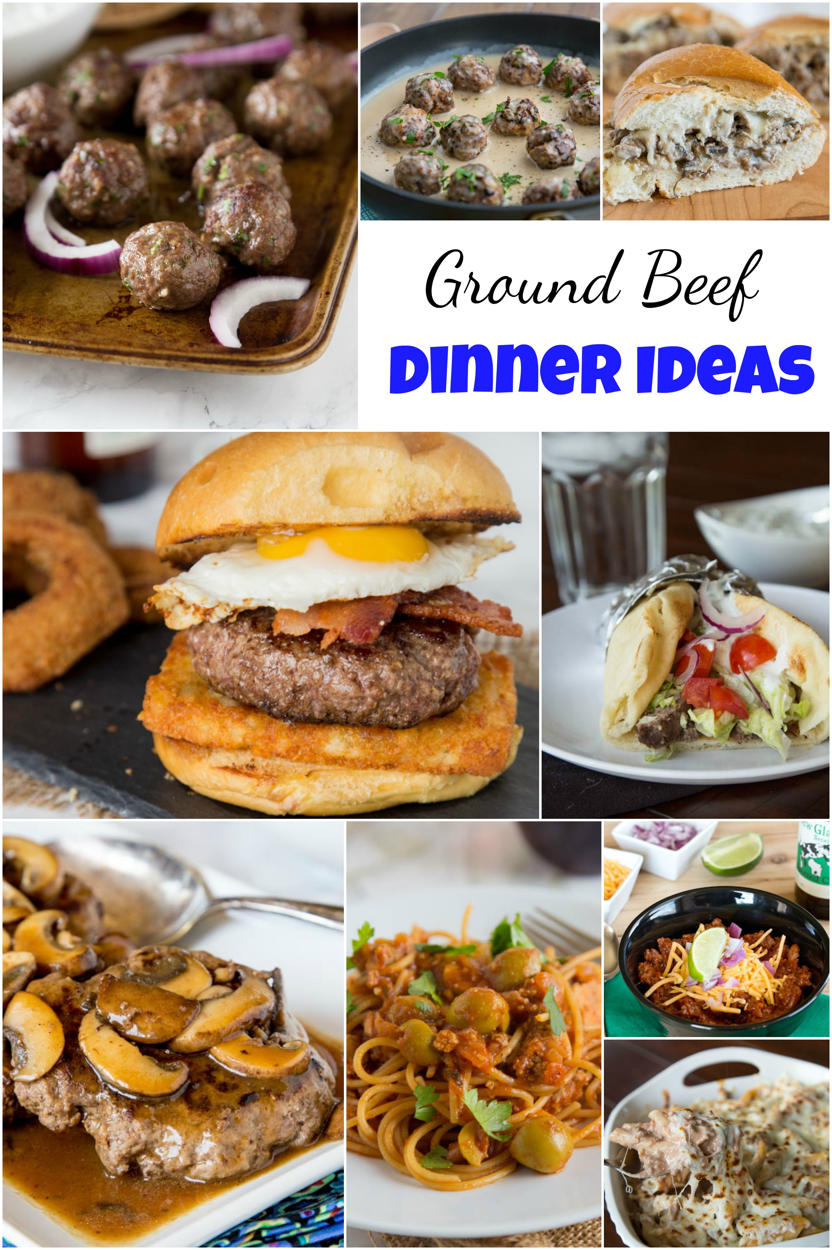 Ground Beef Ideas  Ground Beef Dinner Ideas Dinners Dishes and Desserts