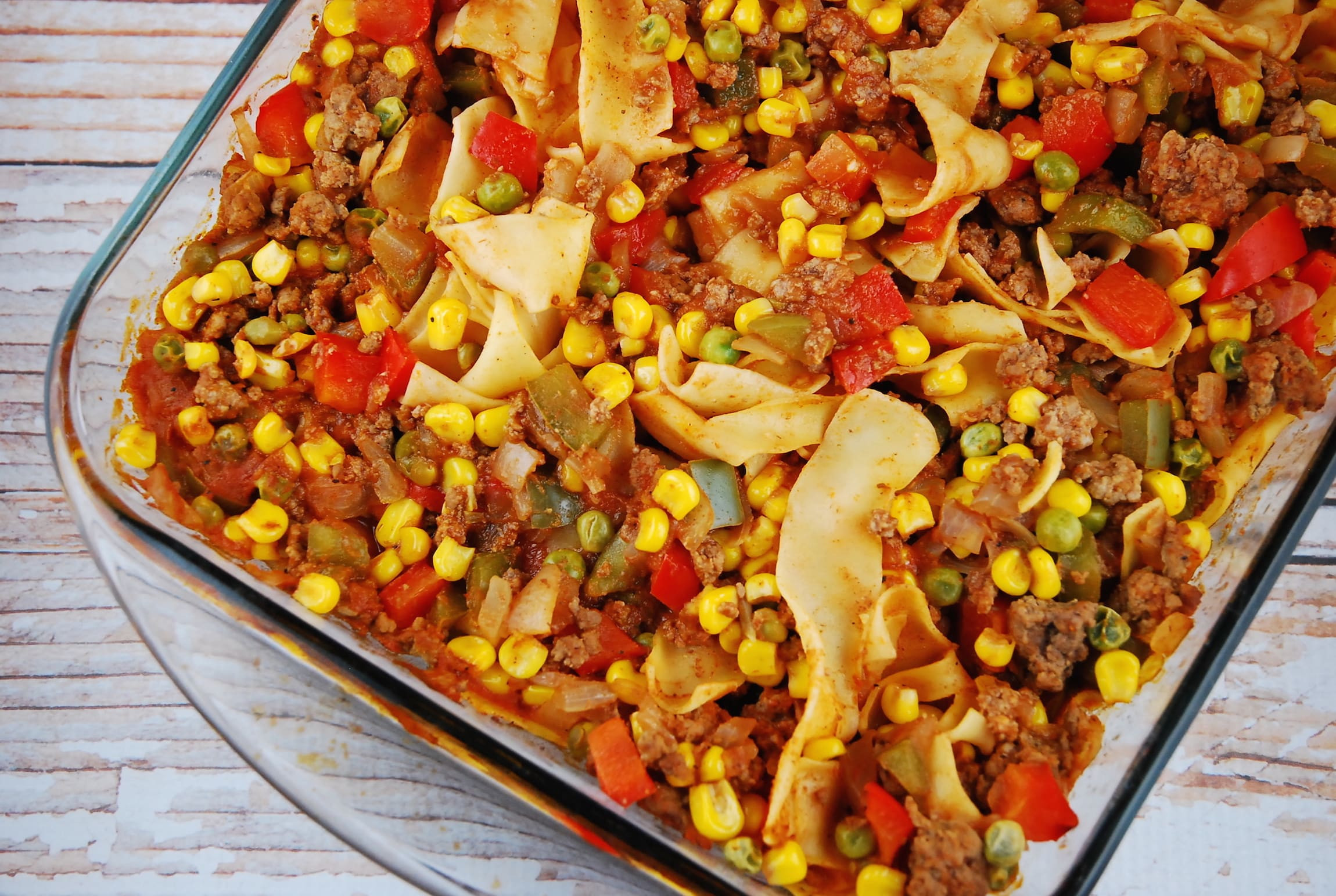 Ground Beef Ideas  Ground Beef and Noodle Casserole Recipe 8 Points LaaLoosh
