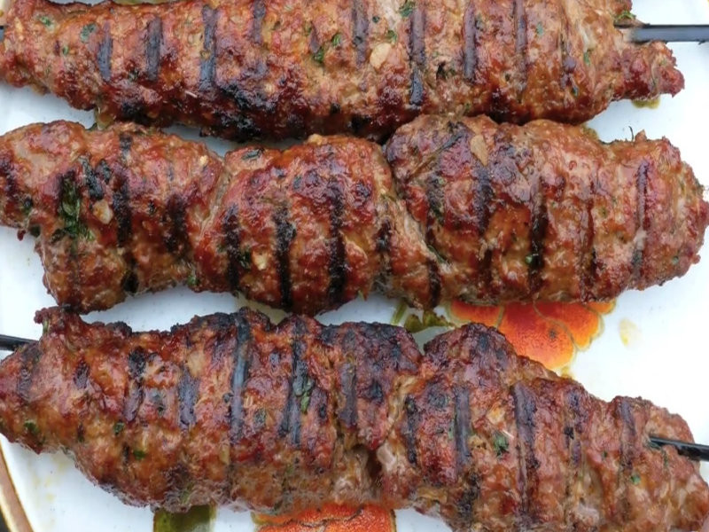 Ground Beef Kabobs  Grilled Ground Meat Skewers With Middle Eastern Spices