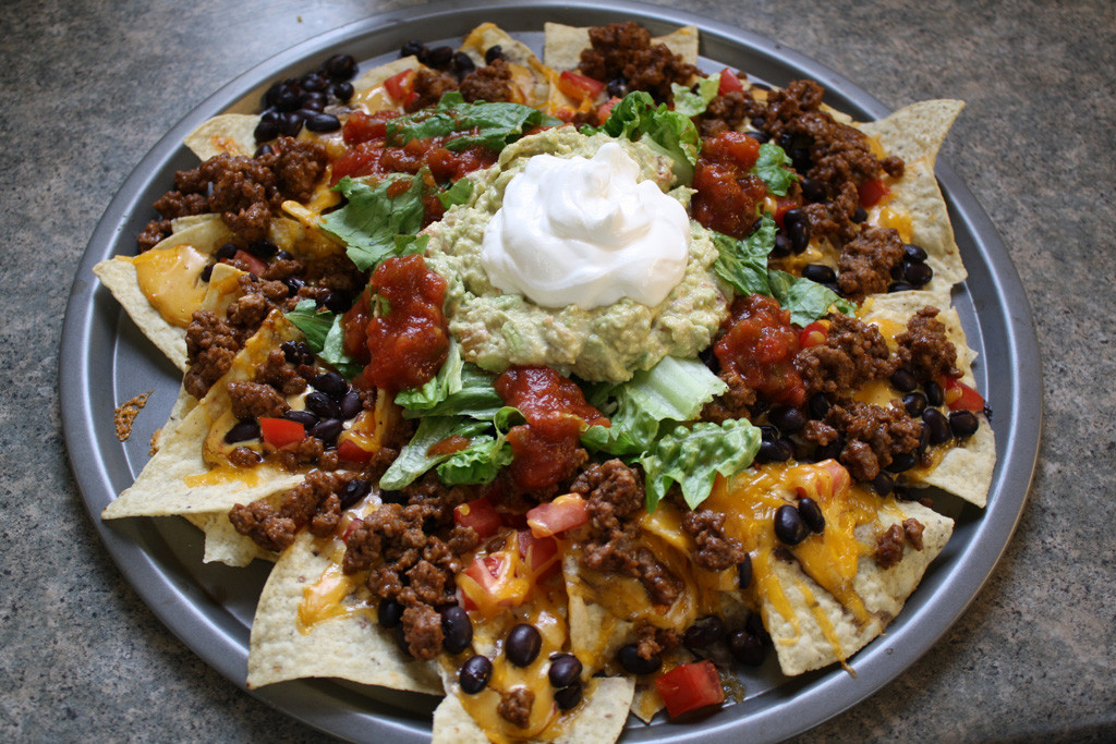 Ground Beef Nachos  Food Porn Pic of the Day