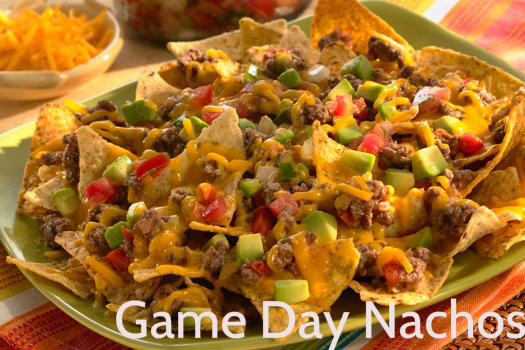 Ground Beef Nachos  Game Day Beef & Cheddar Nachos