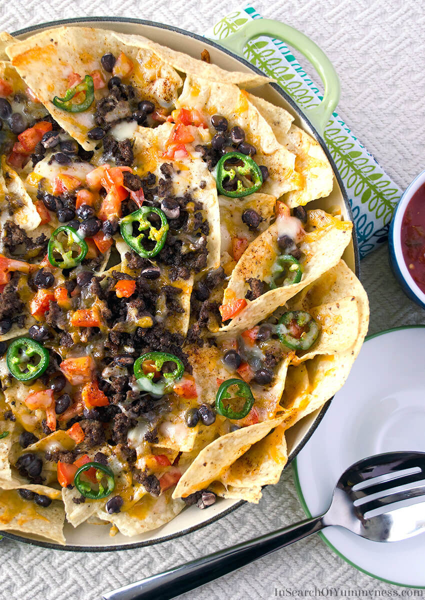 Ground Beef Nachos  Ground Beef Nachos Recipe