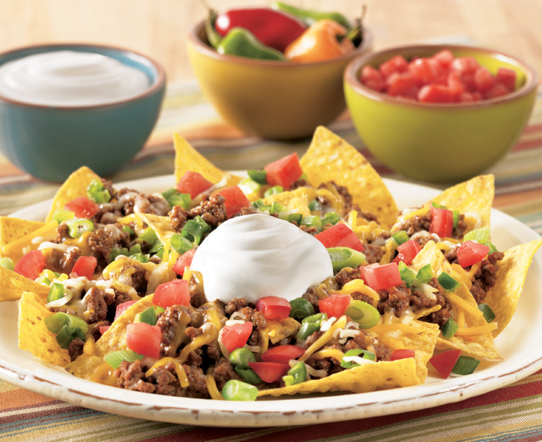 Ground Beef Nachos  Loaded Beef Nachos Daisy Brand