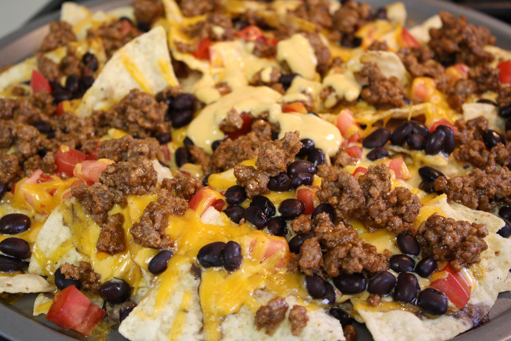 Ground Beef Nachos  homemade nachos with ground beef the gallery for gt nachos