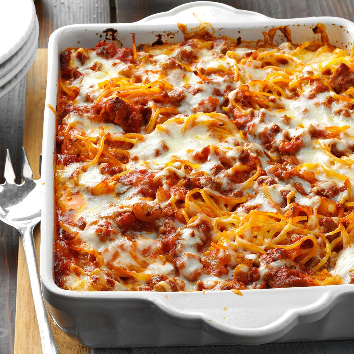 Ground Beef Pasta Casserole Recipes  baked pasta casserole ground beef