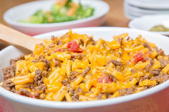 Ground Beef Pasta Casserole  Cheddar Macaroni Ground Beef Casserole Kraft Recipes