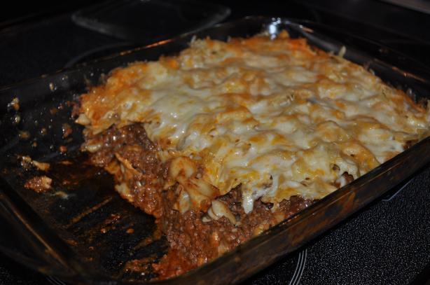 Ground Beef Pasta Casserole  Cheesy Layered Ground Beef And Pasta Casserole Recipe