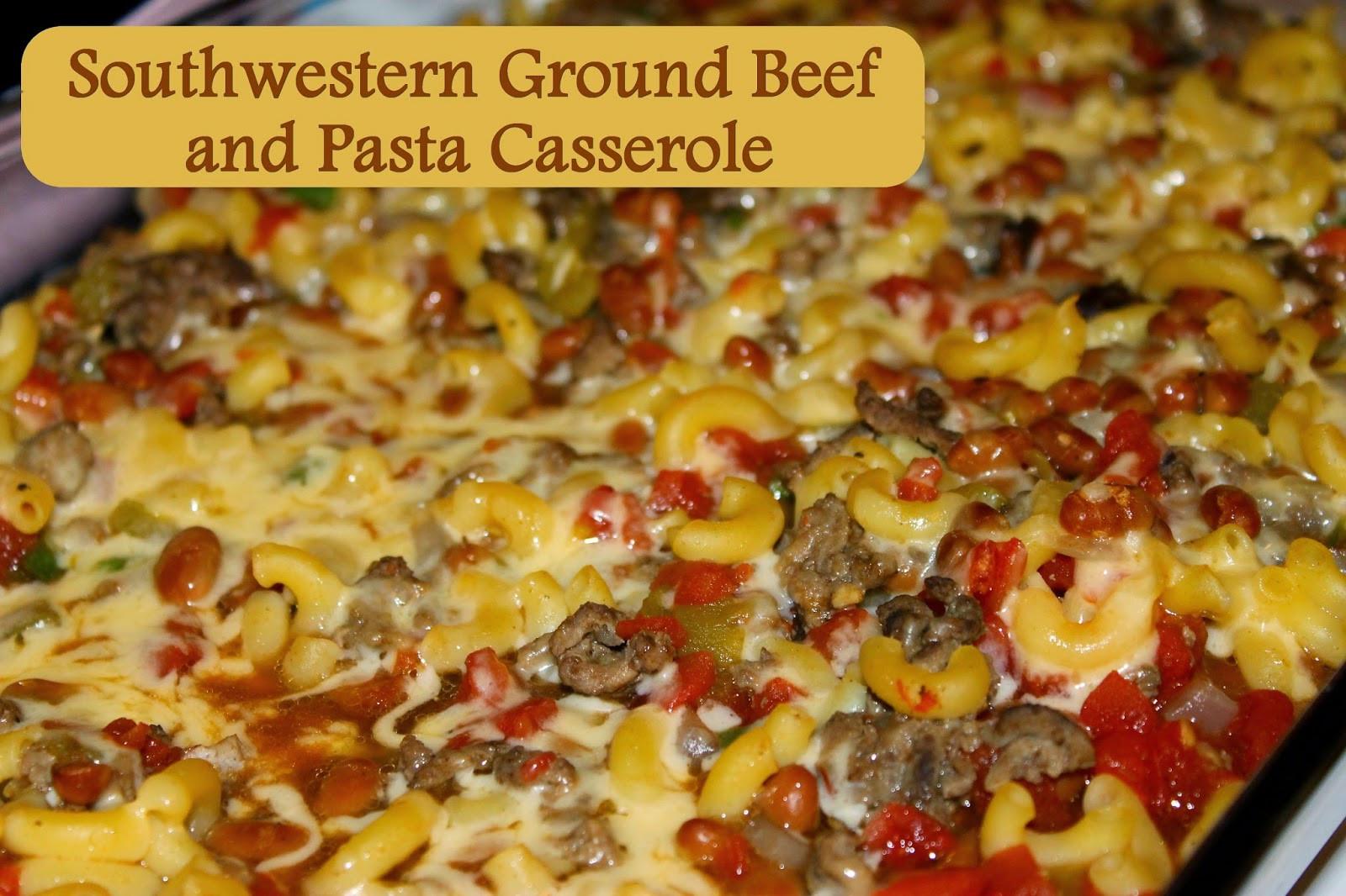 Ground Beef Pasta Casserole  Moms Pantry Recipe Southwestern Ground Beef and Pasta