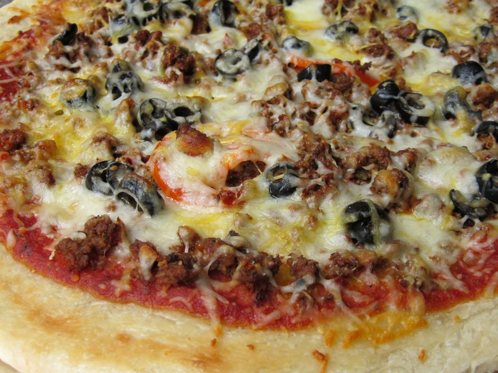 Ground Beef Pizza  Jenn s Food Journey Chorizo and Ground Beef Pizza