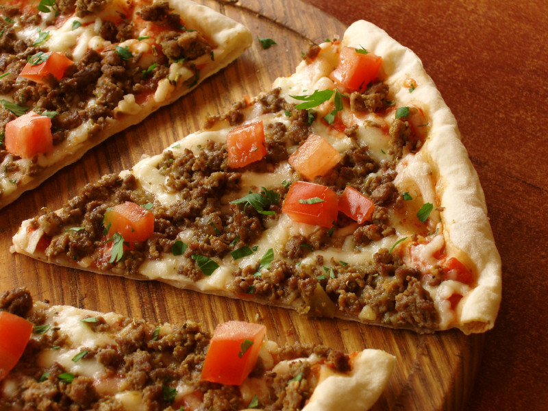 Ground Beef Pizza  Italian beef pizza