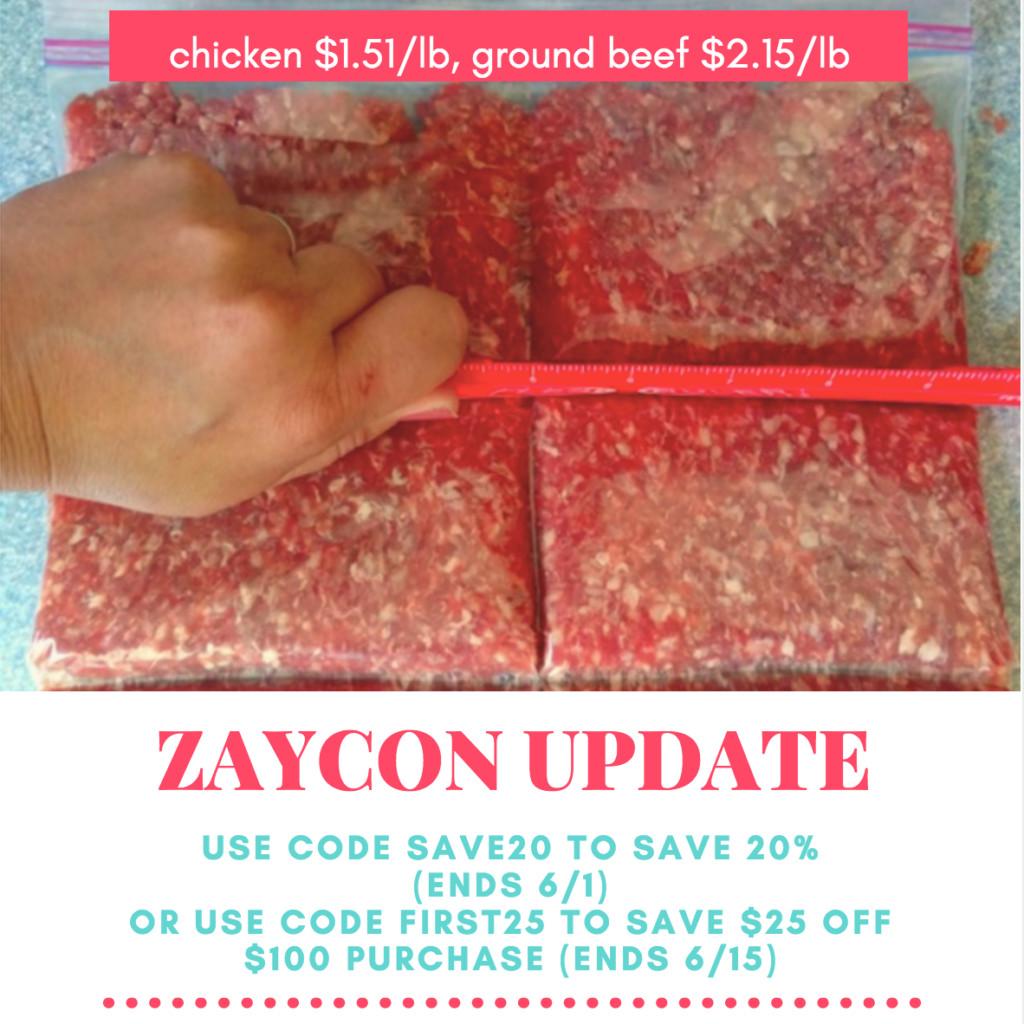 Ground Beef Price Per Pound  Zaycon Update Chicken Just $1 51 Per Pound Ground Beef