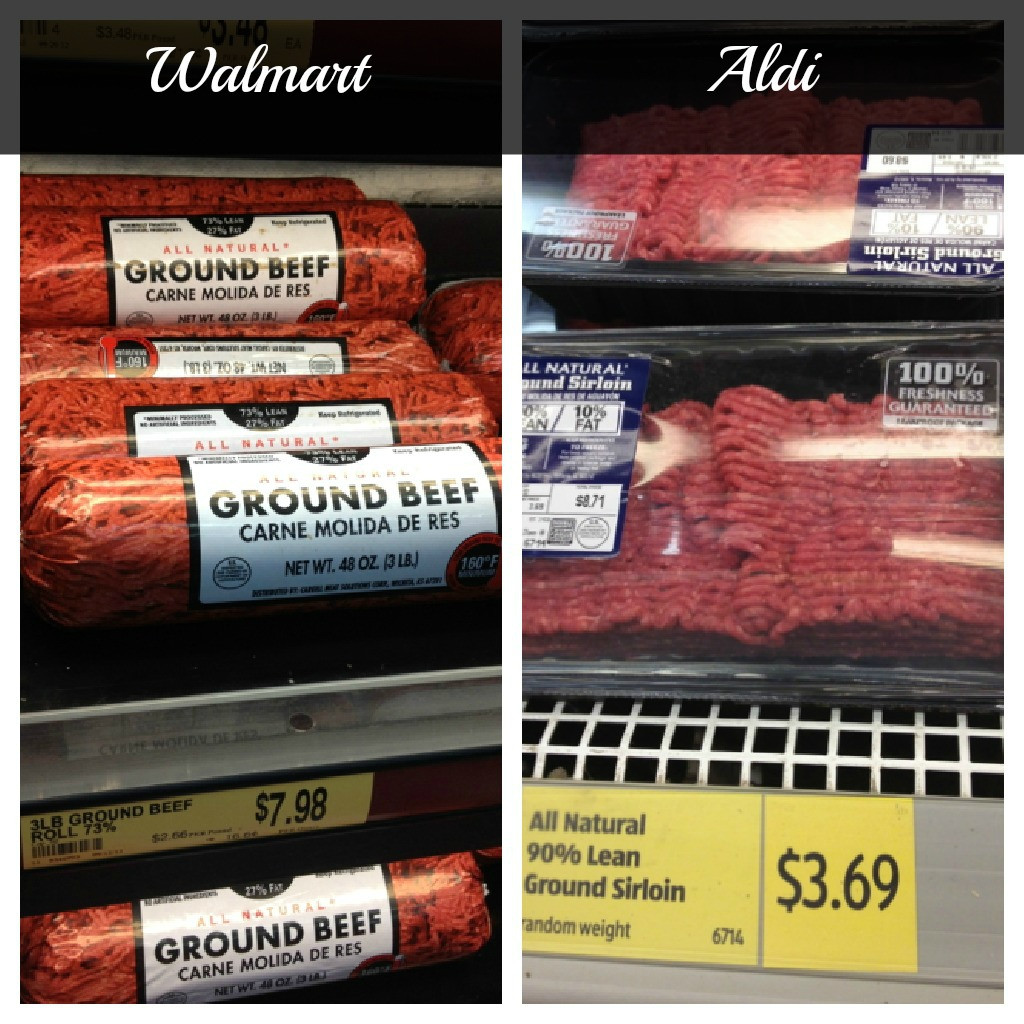 Ground Beef Price Per Pound  Aldi vs Walmart which one is really less expensive than