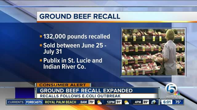 Ground Beef Recall  Recall issued for ground beef products due to E coli
