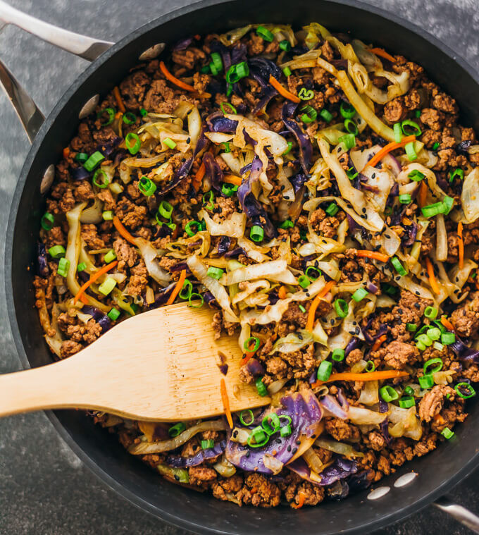 Ground Beef Recipes Keto  Ground Beef and Cabbage Stir Fry Savory Tooth