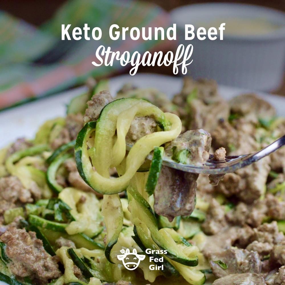 Ground Beef Recipes Keto  Keto Ground Beef Stroganoff Noodles