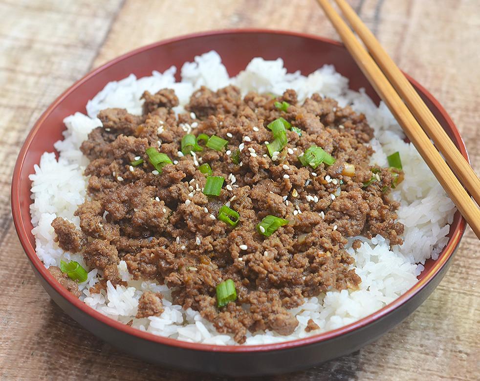 Ground Beef Rice  Korean Ground Beef kawaling pinoy