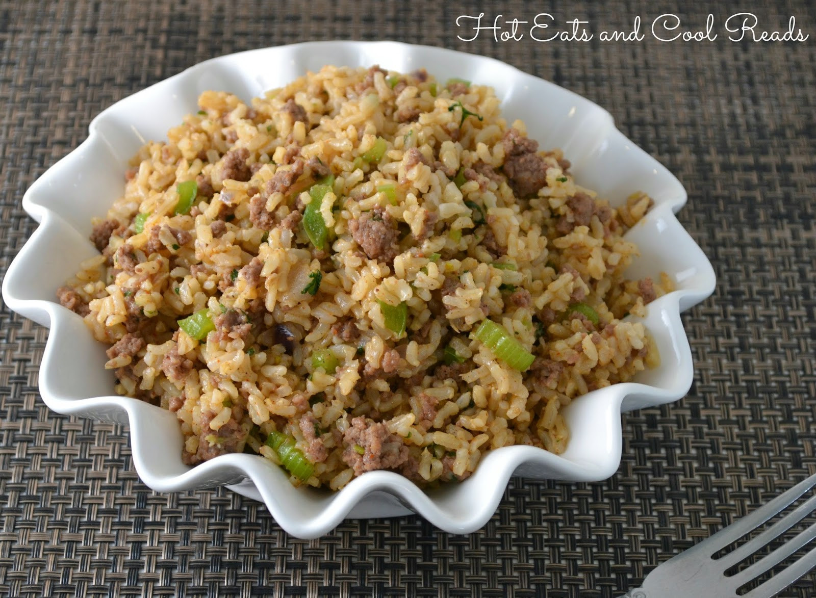 Ground Beef Rice  Hot Eats and Cool Reads Ground Beef Dirty Rice Recipe