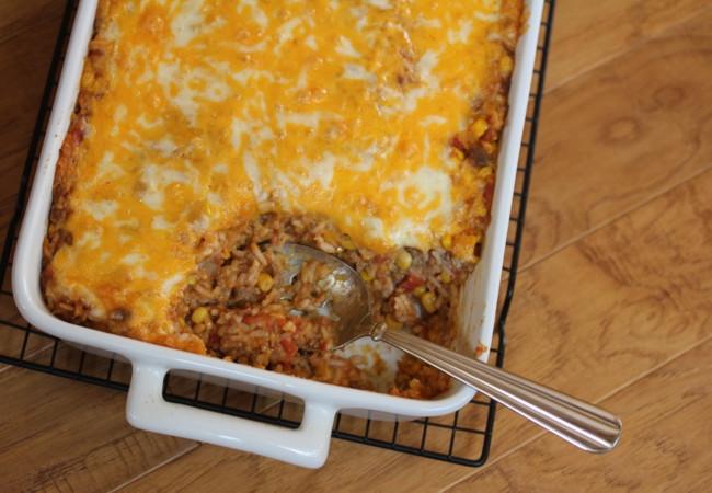 Ground Beef Rice Casseroles  Beef Enchilada Rice Casserole Lynn s Kitchen Adventures