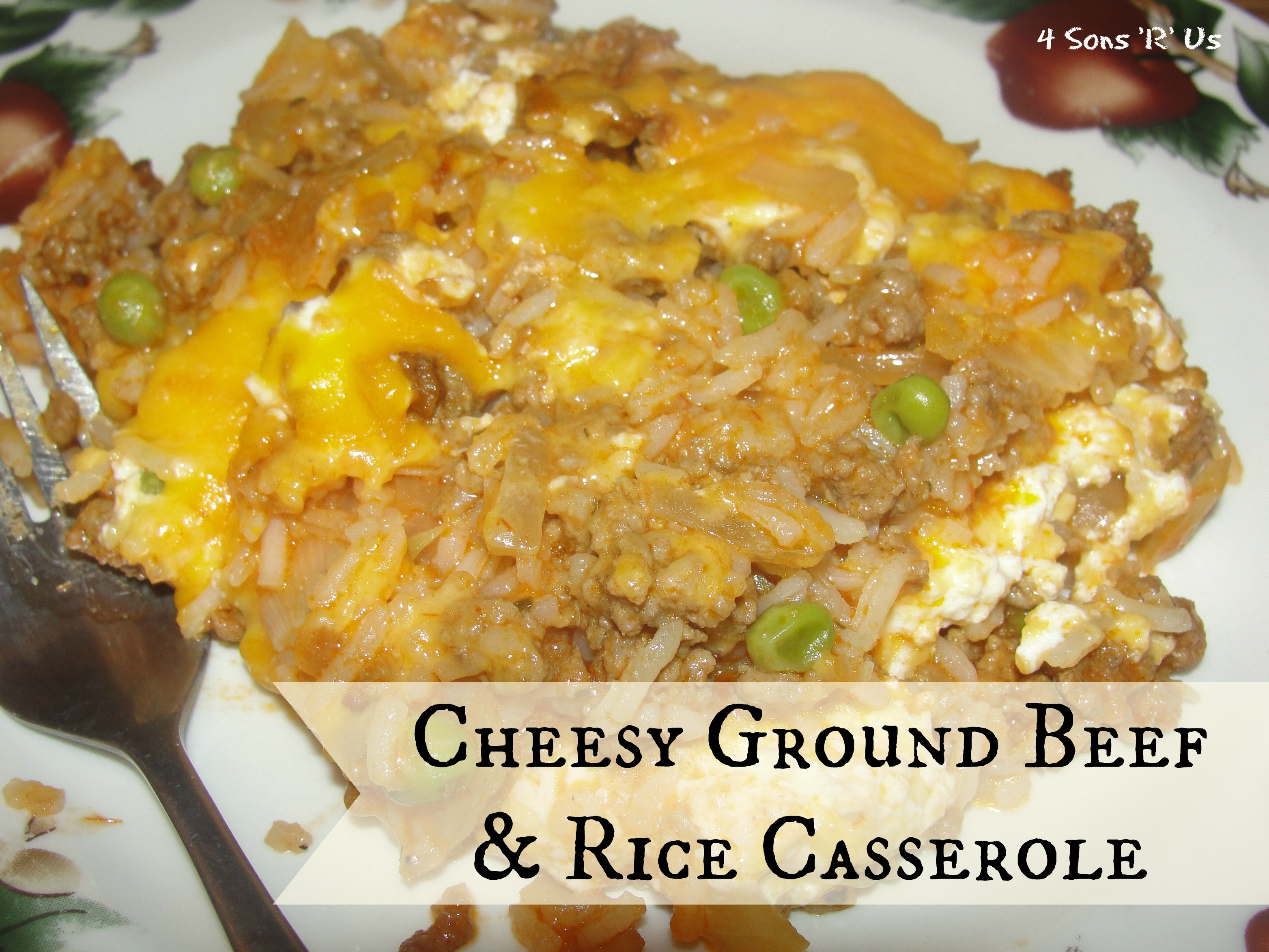 Ground Beef Rice Casseroles  Cheesy Ground Beef And Rice Casserole 4 Sons R Us