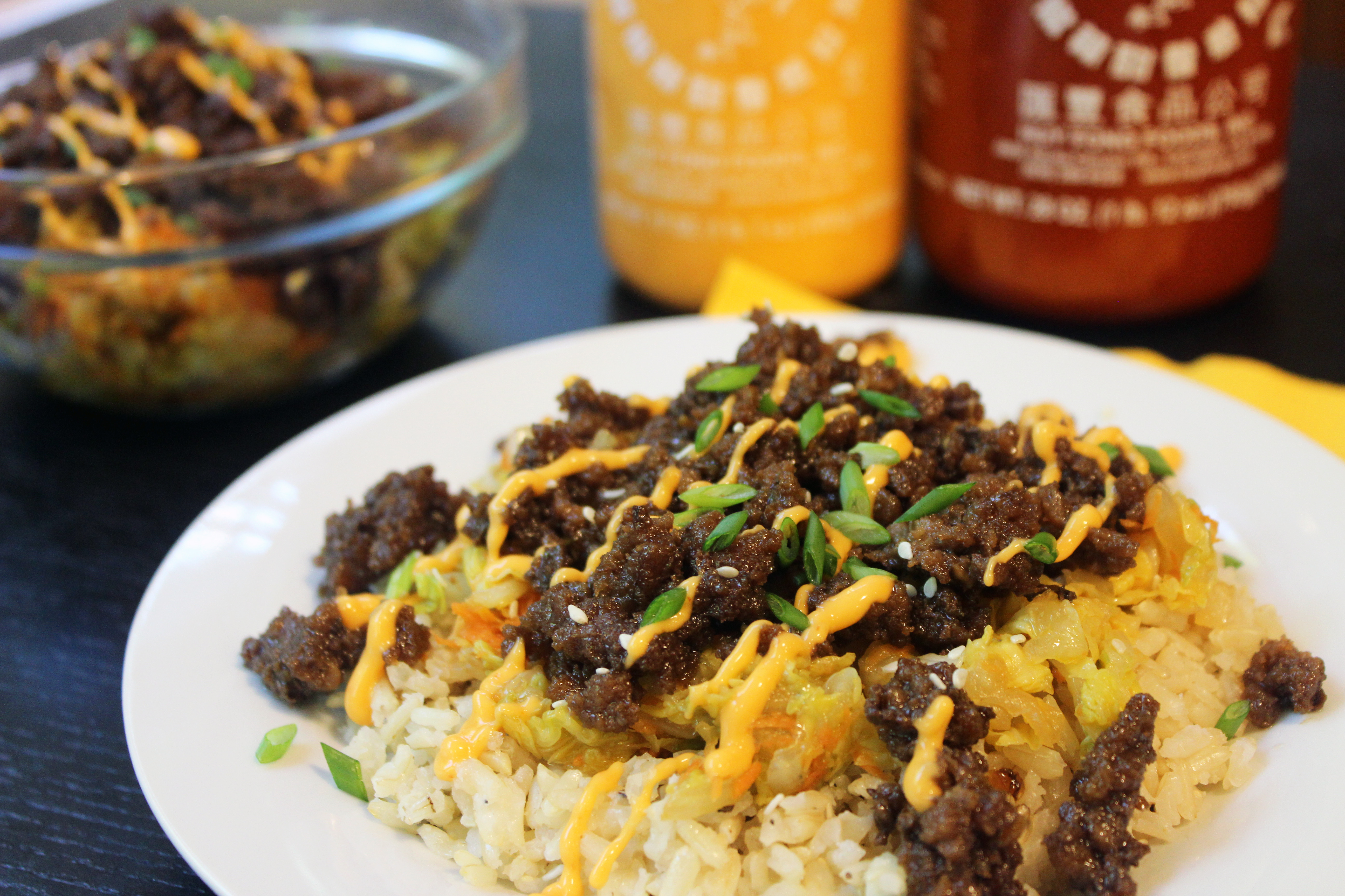 Ground Beef Rice  brown rice ground beef
