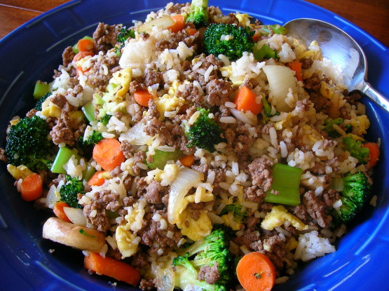 Ground Beef Rice  Kittencals Ground Beef Fried Rice Recipe Genius Kitchen