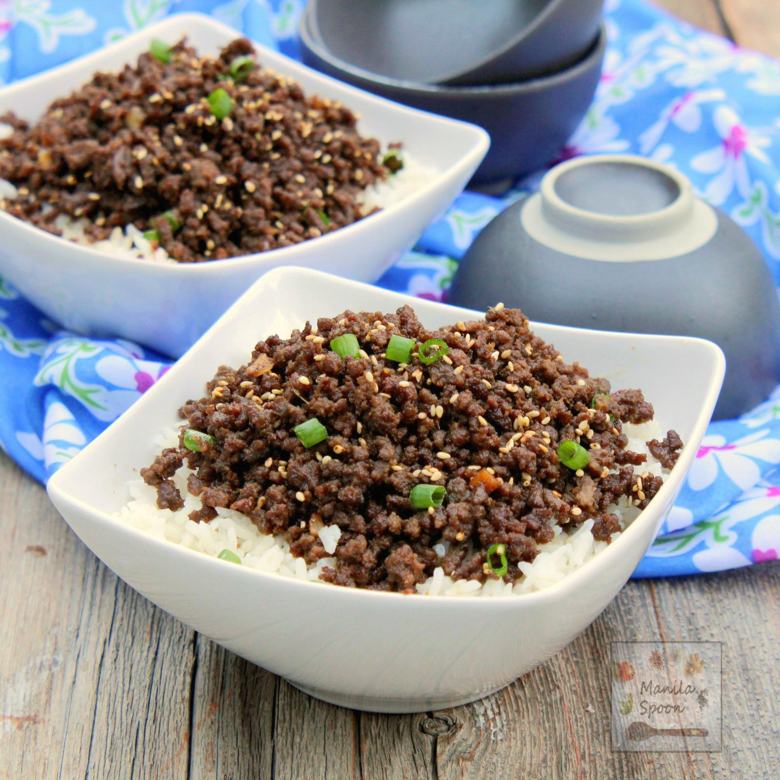 Ground Beef Rice  Korean Ground Beef over Rice