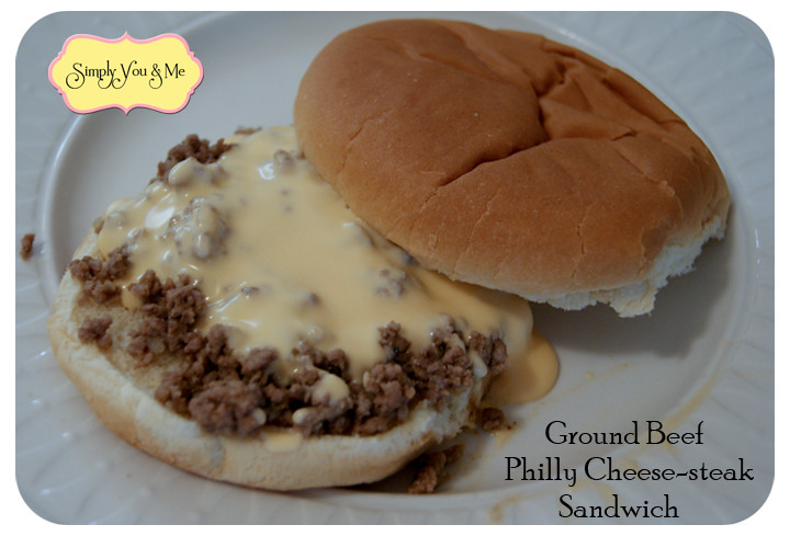 Ground Beef Sandwich  Simply You and Me Ground Beef Philly Cheesesteak Sandwiches