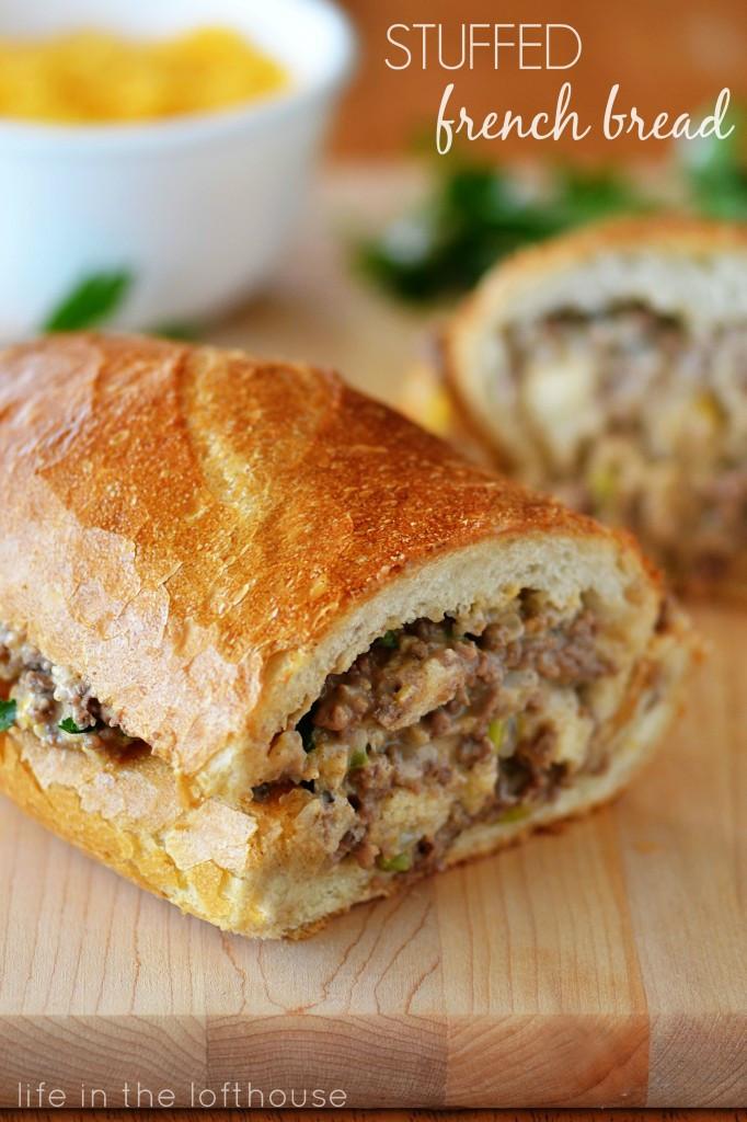 Ground Beef Sandwich  Stuffed French Bread