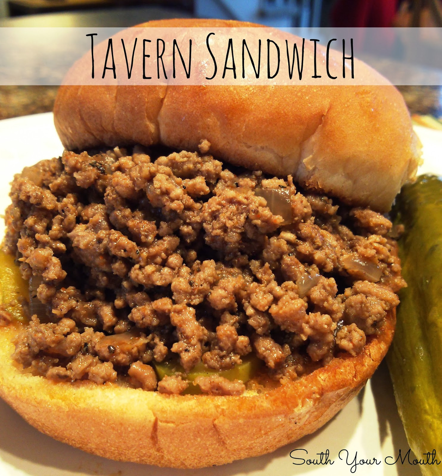 Ground Beef Sandwich  South Your Mouth Tavern Sandwich or Loose Meat Sandwich