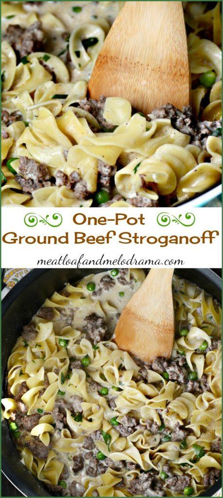 Ground Beef Stroganoff Recipe  e Pot Ground Beef Stroganoff Meatloaf and Melodrama