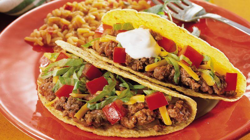 Ground Beef Taco Recipe  Ground Beef Tacos Recipe Pillsbury
