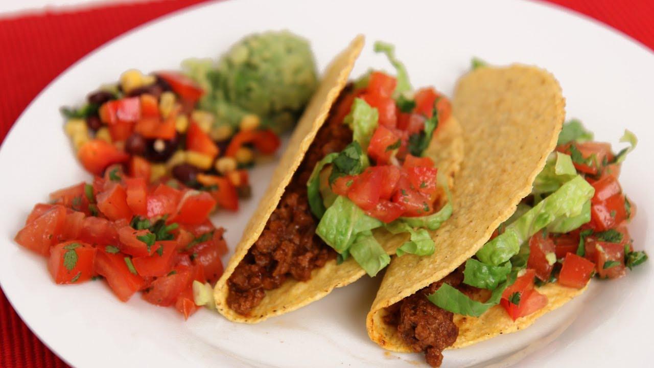 Ground Beef Taco Recipe  American Ground Beef Tacos Recipe Laura Vitale Laura