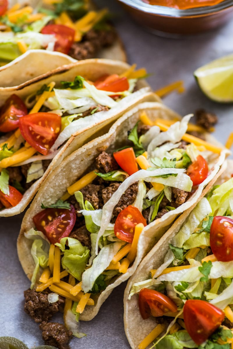 Ground Beef Taco Recipe  Easy Ground Beef Tacos Isabel Eats