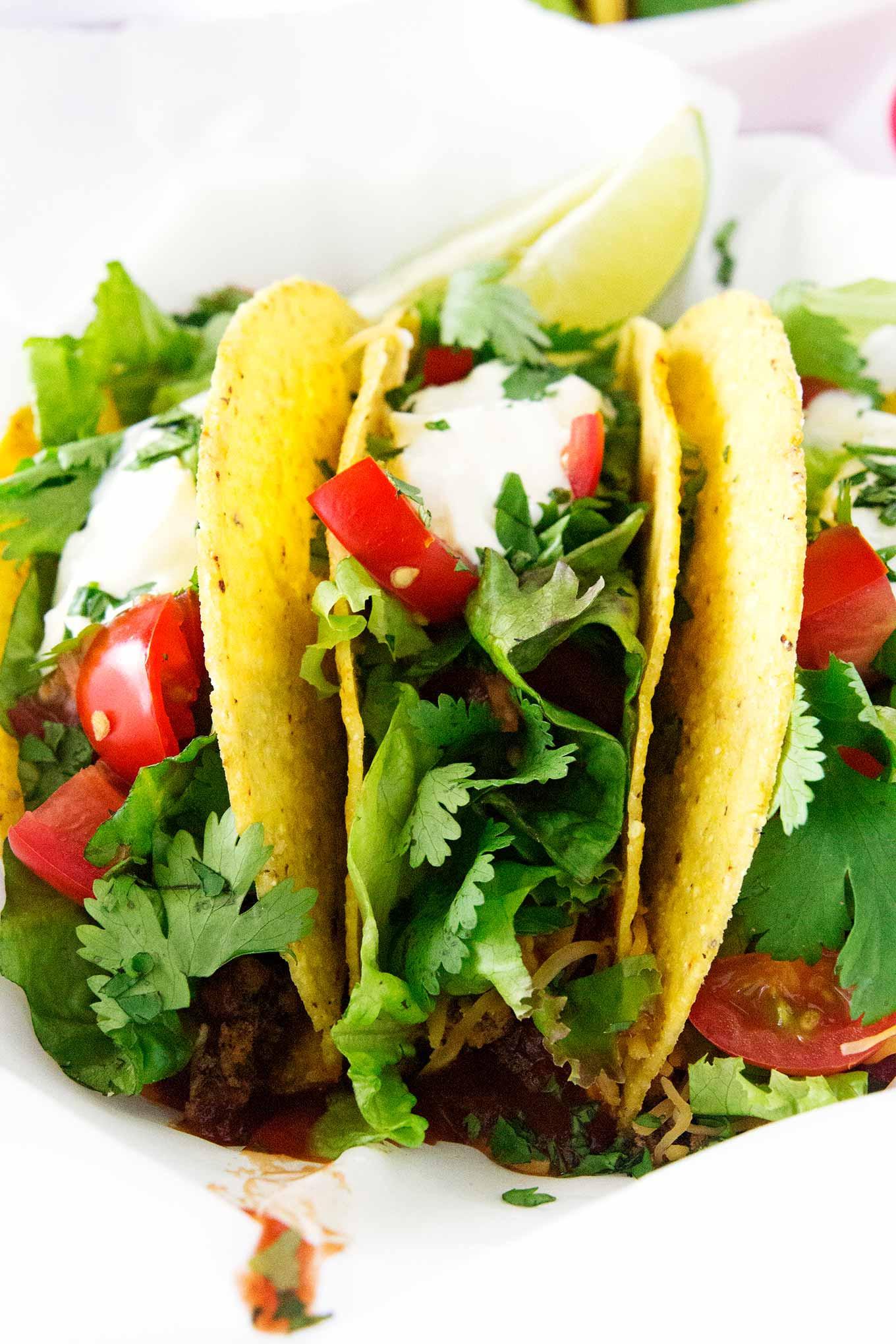 Ground Beef Taco Recipe  The Best Ground Beef Tacos Recipe • So Damn Delish